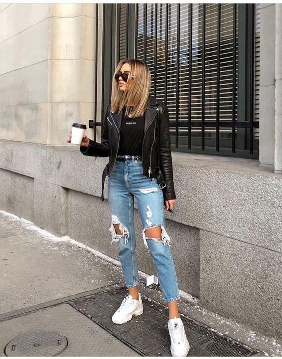 Look Con Jeans Retro O Mom Jeans Como Llevarlos Con Estilo