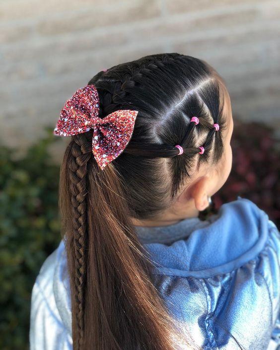 Simple y con estilo peinados de niñas Imagen de estilo de color de pelo - Peinados para niñas fáciles, bonitos y modernos de moda